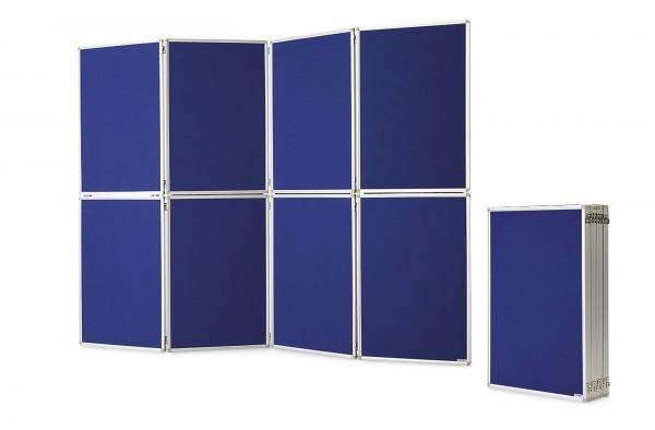 Präsentationswand, zusammenklappbar, royalblau