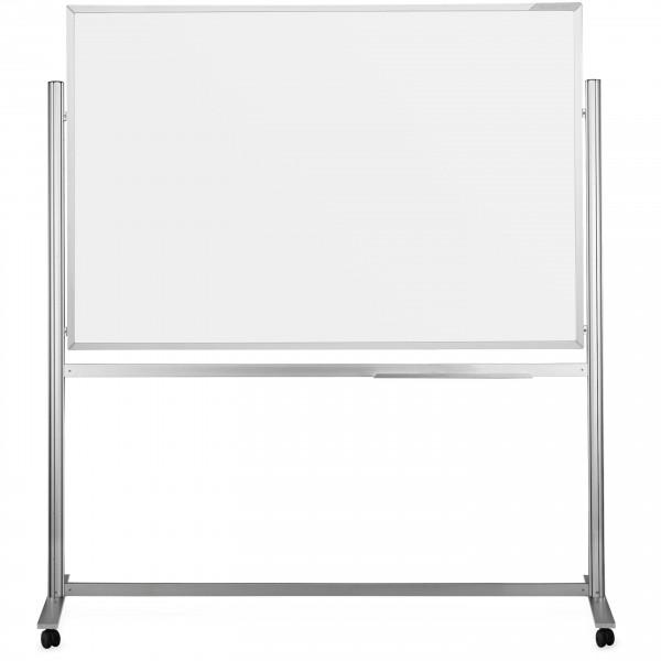 ferroscript-Schreibtafel mobil, doppelseitig, drehbar