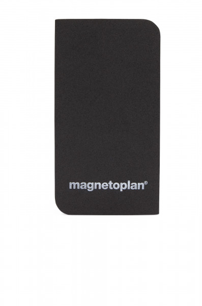 Magnetic eraser for cleaning glassboards and whiteboards