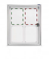Showcase CC for the outside, with safety glass 4xA4 650x780x65mm