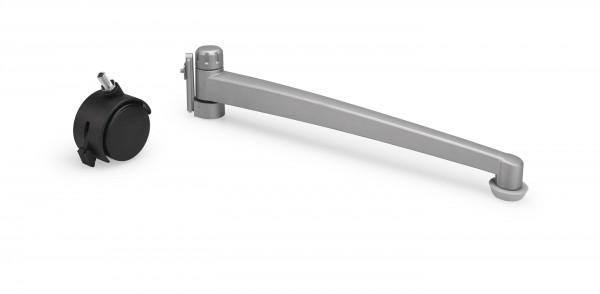 Swivelling aluminium foot