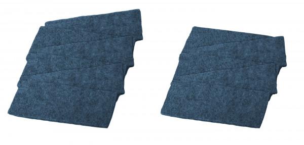 Ersatzfilz 12 Stück, für Tafellöscher blau (12293)